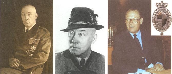 Kníže Friedrich Viktor von Hohenzollern (1891-1965), jehož narozeniny se vždy 30. srpna     na Hůrce slavily, a jeho syn Friedrich Wilhelm, nar. 1924
