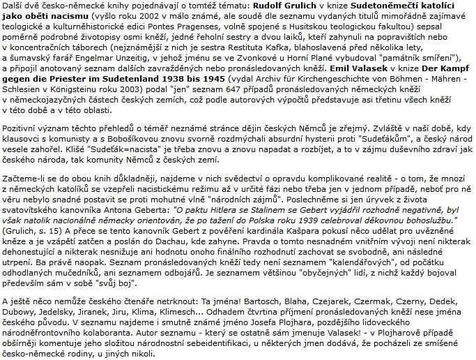 """Text Martina C. Putny v časopise Souvislosti se týká i """"svatovítského kanovníka Antona Geberta"""""""