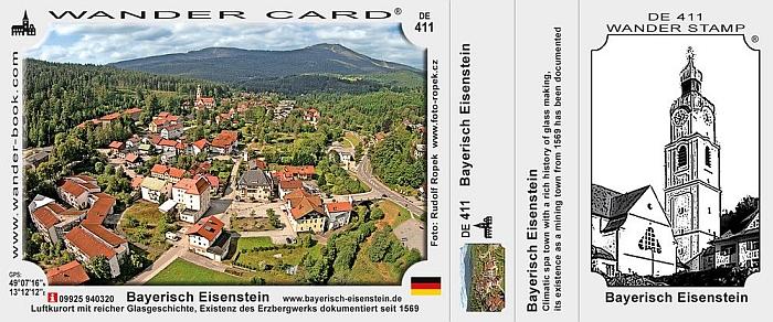 Turistická karta Bavorské Železné Rudy