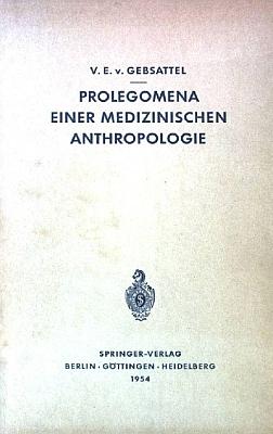 Obálka (1954) jeho knihy vybraných textů o medicínské antropologii z nakladatelství Springer Verlag