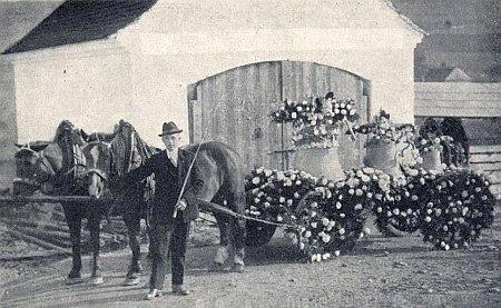 Svěcení zvonů v květnu 1924 v Boleticích za jeho účasti