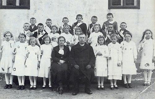 První přijímání v Boleticích 1937
