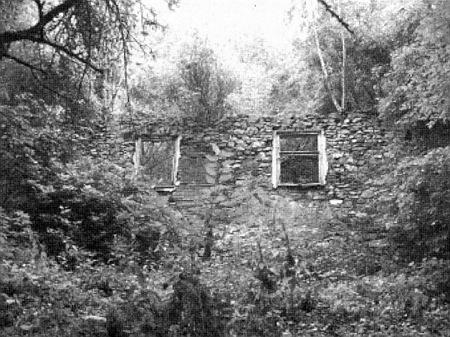 Ruiny školy v Boleticích, kde Thomas Geist učil, na snímku v krajanském časopise z roku 2012