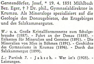 Jeho heslo bez data a místa úmrtí v Biografickém lexikonu pro dějiny českých zemí, který vydalo německy Collegium Carolinum v roce 1979