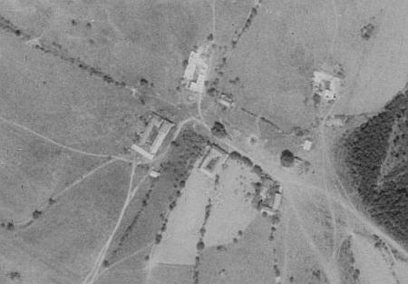 Ktiška na leteckých snímcích z let 1952 a 2008