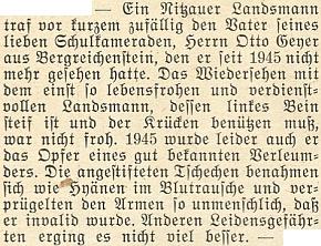 Mylná zpráva o něm v krajanském měsíčníku zledna roku 1952...