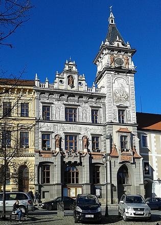 Prachatický archív původně sídlil v budově Nové radnice nanáměstí