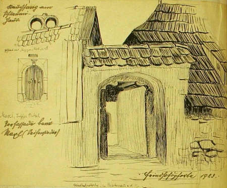 Několik Arthurových kreseb ve školní kronice z Rychnova nadMalší, kterou vedl jeho otec (viz i Konrad Gintner)