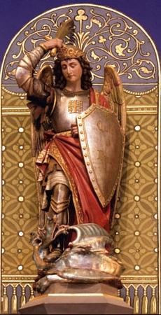 Archanděl Michael, patron kostela v Probbachu