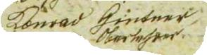 Jeho podpis v obecní kronice v Rychnově na Malší