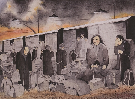 """""""Vystoupení do neznáma"""" je název dalšího z akvarelů KlauseLottnera"""