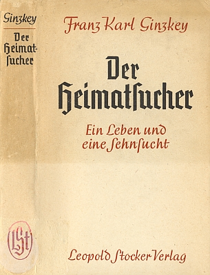 Obálka (1948) knihy jeho pamětí (nakladatelství Leopold Stocker, Graz)