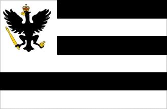 Vlajka někdejšího knížectví Hohenzollern-Sigmaringen