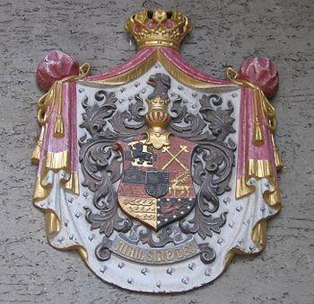 Velký znak Rumunského království, kde rod Hohenzollern-Sigmaringen vládl až do roku 1947 a kde má dodnes i nástupnické právo