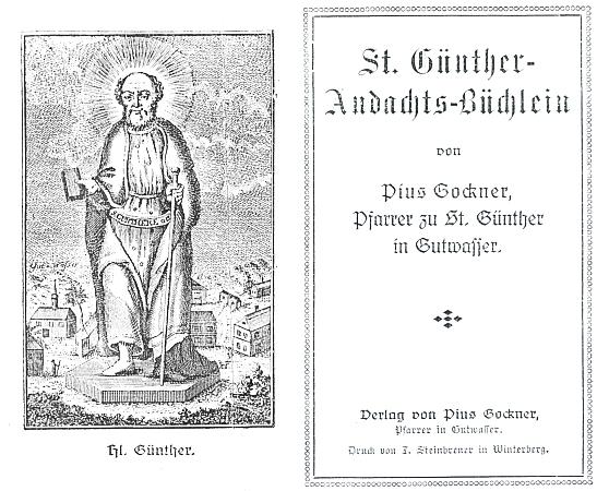 Titulní list a frontispis jeho modlitební knížky tiskem vimperského Steinbrenera (viz i Josef Schwarzmeier)
