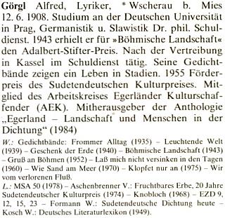 O něm v německém lexikonu význačných osobností Chebska