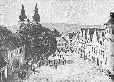 Rodné Poběžovice na snímcích z roku 1910 a 1998