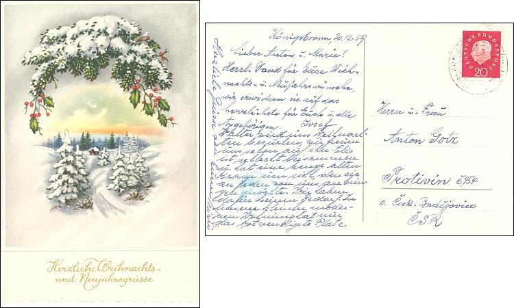 Dva pozdravy k Vánocům 1959