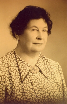 Olga, žena Elisina bratra Fritze (Friedricha), zesnulá v září roku 1953