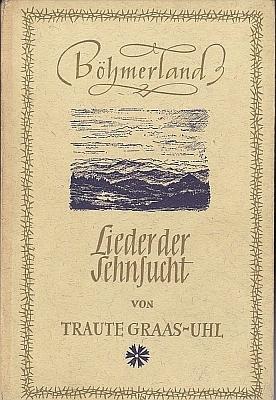 """Obálka (1949, Verlag """"Die Blaue Blume"""") jedné z jejích knih"""