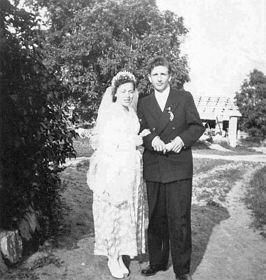 Její svatba v roce 1952 s Hermannem Gräfem