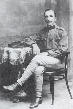 Dědeček Johann Plöchl jako voják rakouské armády
