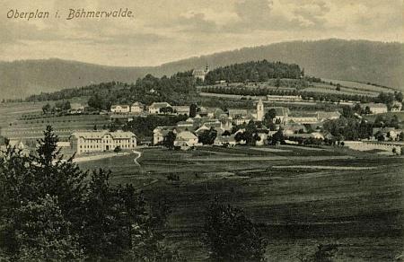 Horní Planá na pohlednici Josefa Seidela