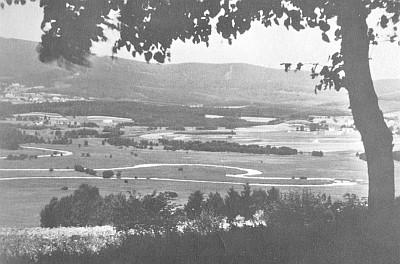 Srdce Vltavy dříve a nyní za nízkého stavu vody