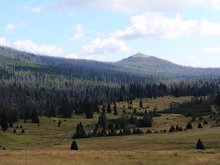 Hora Luzný na snímku z roku 2014