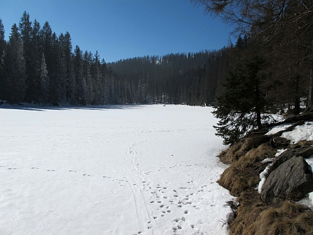 Jezero Laka v zimě