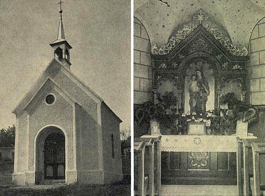 Kaple v někdejší Svatonině Lhotě a její interiér