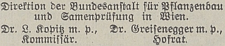 Tady je spolupodepsán na doporučení čtenářům německého zahrádkářského časopisuzČeských Budějovic