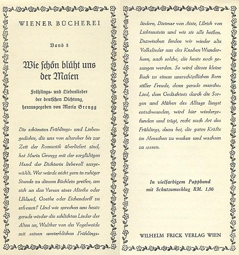 Záložka do knihy (1940), kterou uspořádala