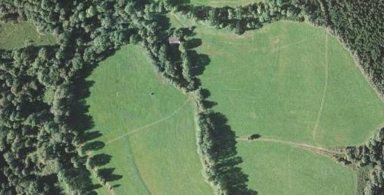 Petrovice u Záblatí na leteckých snímcích z let 1952 a 2008