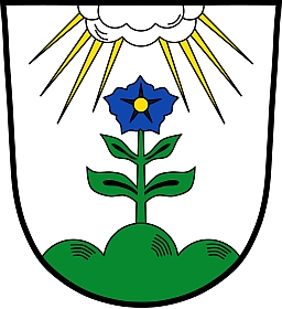 Znak bavorského městyse Hengersbergu, jehorodiště