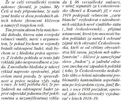 """""""Poslední slovo"""" Karla Olivy v Lidových novinách z června 2019 se zásadním způsobem vyslovuje kokolnostem mnichovské """"dohody"""""""