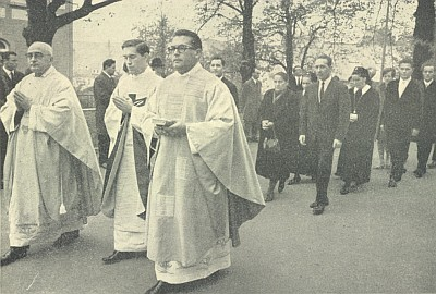 Jeho kněžská primice  v listopadu 1968 ve Wasseralfingen