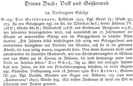 Obálka (1997) reprintu sborníku šumavských pověstí z roku 1924 spoznámkou Gustava Jungbauera o Reichenau z Grimmových textu - reprint vydal Robert Baierl v Pasově v edici tamního Muzea Šumavy