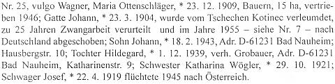 Záznam o jejím rodném domě a jeho obyvatelích v rodácké pamětní knize