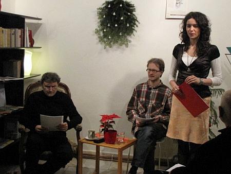 Vánoční čtení z jeho textů v Pražském literárním domě autorů německého jazyka (Prager Literaturhaus deutschsprachiger Autoren) v prosinci roku 2009