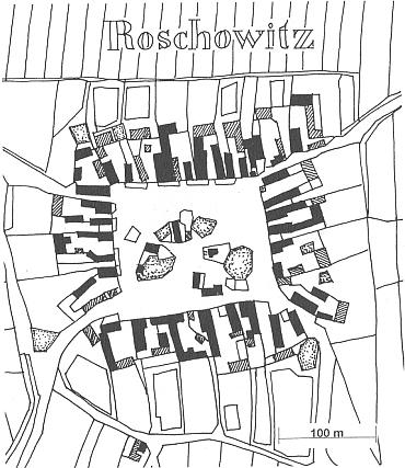 Radošovice na mapě stabilního katastru z roku 1827