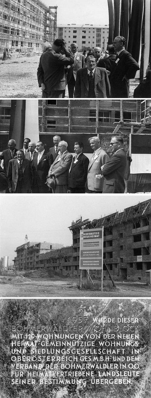Rok před svou smrtí při slavnostním předávání tzv. Šumavského obytného bloku v Linci, určeného vyhnaným krajanům