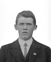"""Josef Hable """"mladší"""" na snímku s datem 26. února 1922"""