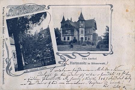 Vintířovy skály a Karlov, pohlednice