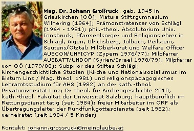 "Jeho medailon na webových stránkách ""meinglaube"""