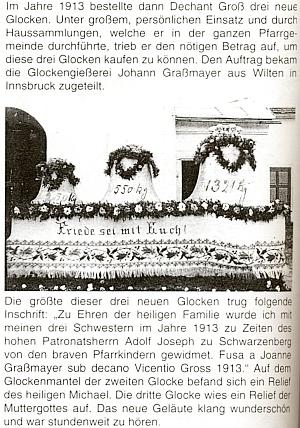 O pořízení zvonů pro rychnůvecký kostel vroce 1913