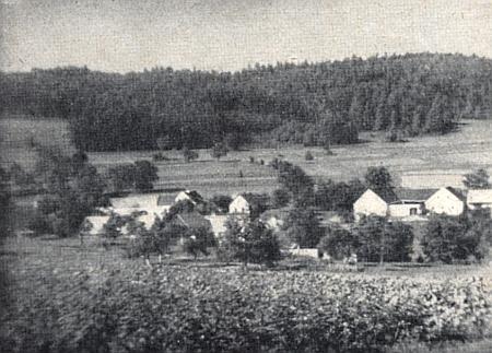 Pohled na Jedlici z roku 1945