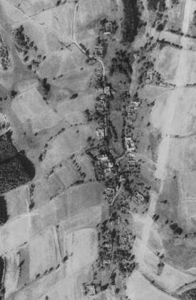 Jedlice na leteckých snímcích z let 1952 a 2008