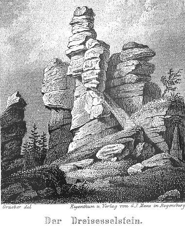 Třístoličník na rytině podle Bernharda Gruebera