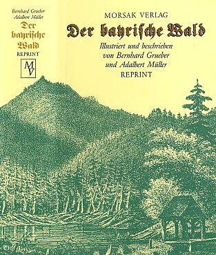 Obálka reprintu jeho knihy v nakladatelství Morsak, Grafenau (1993) se zpodobením hory Roklan (viz i Adalbert von Müller)